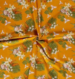 Nooteboom tropical flower geel viscoselinnen