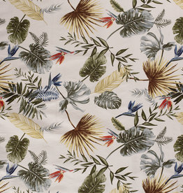 Nooteboom COUPON tropical leafs bengaline (80cm x 144cm)