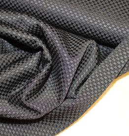 A La Ville Haute Couture grof piquékatoen zwart