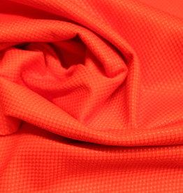 La Maison Victor COUPON smal piquékatoen rood Adèle jurk - LMV  45x130cm
