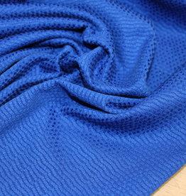 A La Ville Haute Couture COUPON piquékatoen kobalt 60x130cm