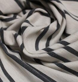 Poppy Linen bengaline stripe navy/silver