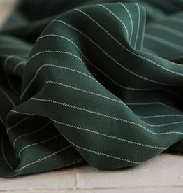 Meet Milk Tencel pin stripe twill deep green