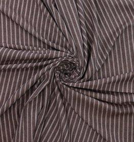 bruin linnen 3 dubbele lijnen wit