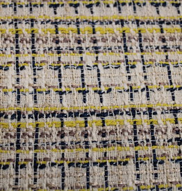 Jacquard chanel beige-blauw-geel