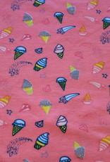 Poppy Glitter icecream and diamonds peach tricot