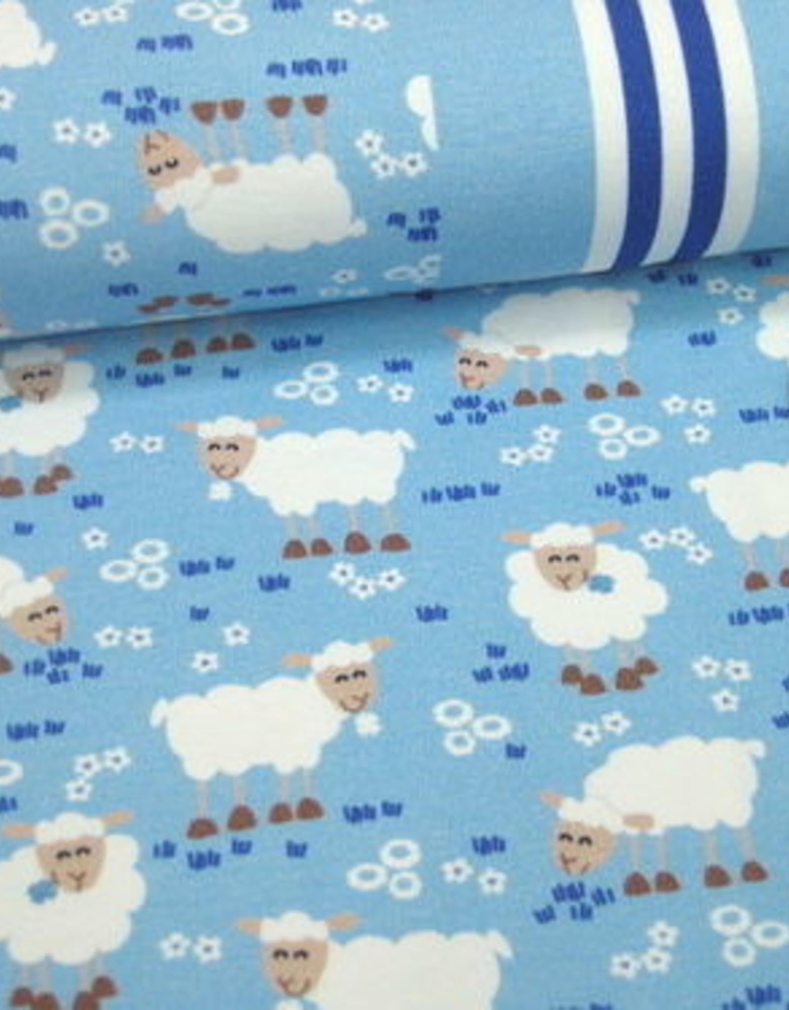 Hilco Kids farm sheeps lichtblauw tricot
