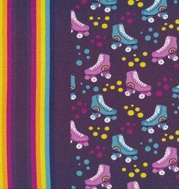 Hilco Big dreams rolschaatsen paarse tricot