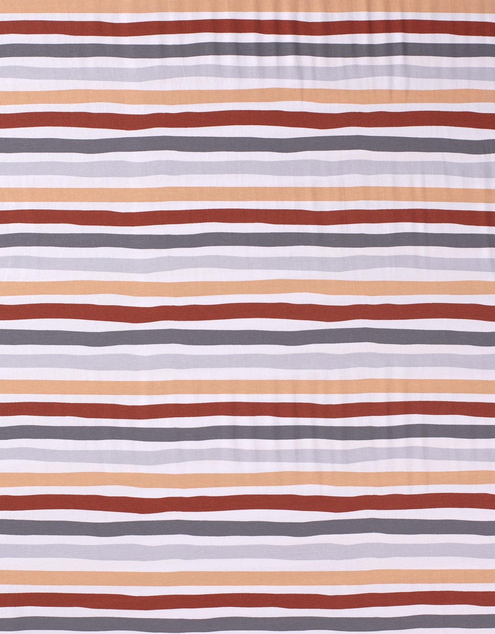 Nooteboom stripes roest zalm grijs