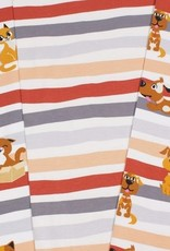 Nooteboom Dog stripes roest zalm grijs