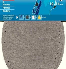 Prym Prym -  patches suedeimitatie 10x14cm grijs - 929 381