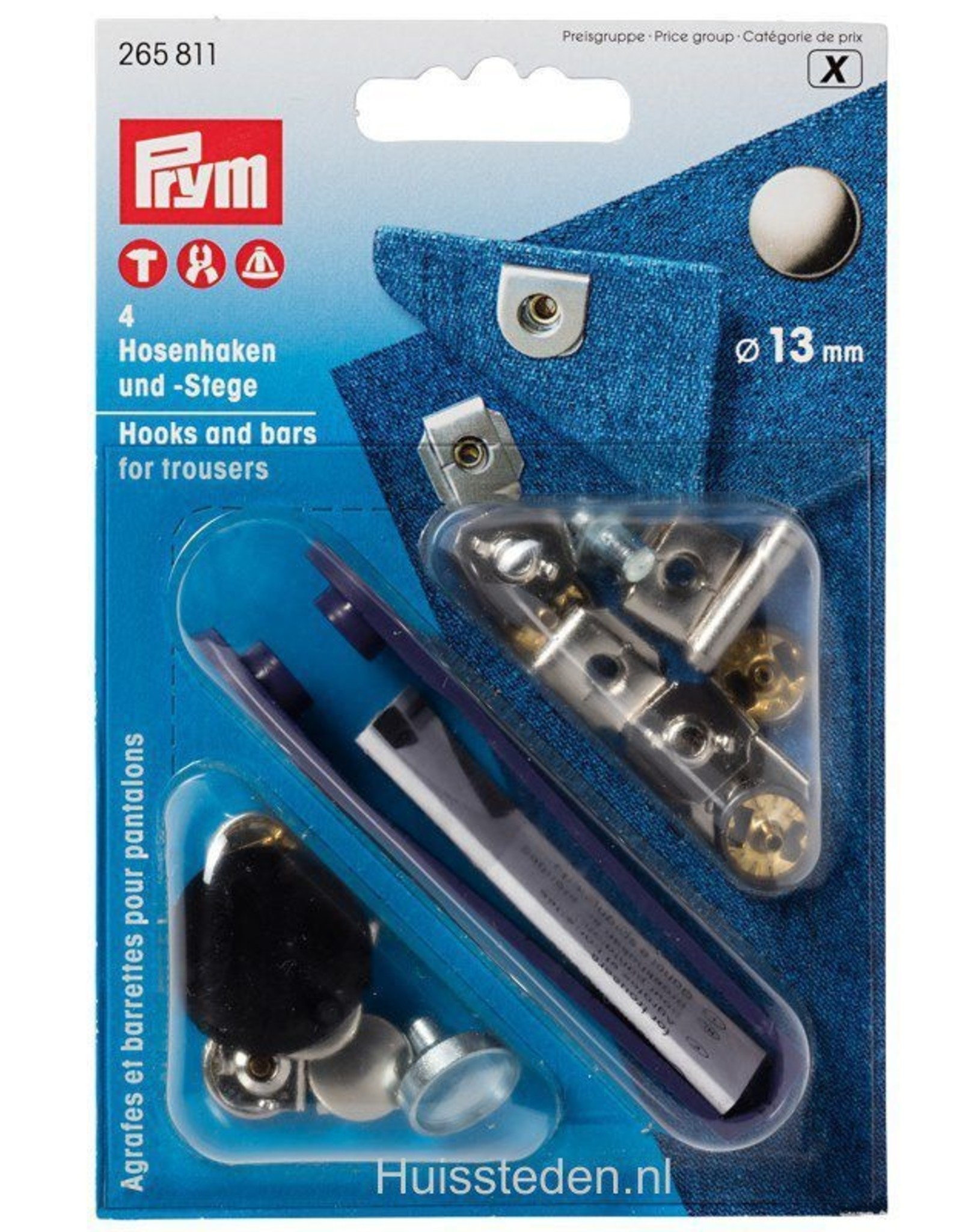 Prym Prym - Broekhaken Kap 4x zwart - 265 811