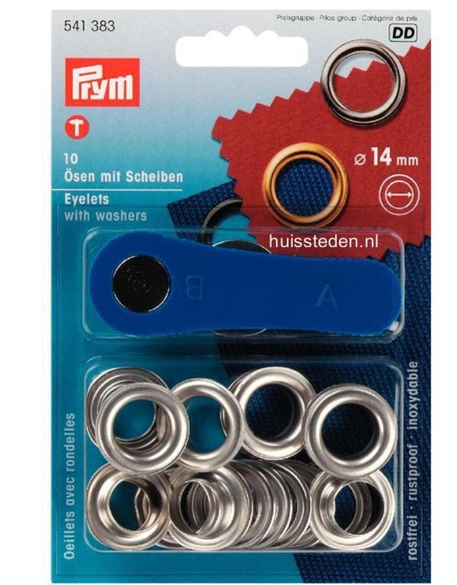 Prym Prym - Ring+Schijf 14mm zilver - 541 383