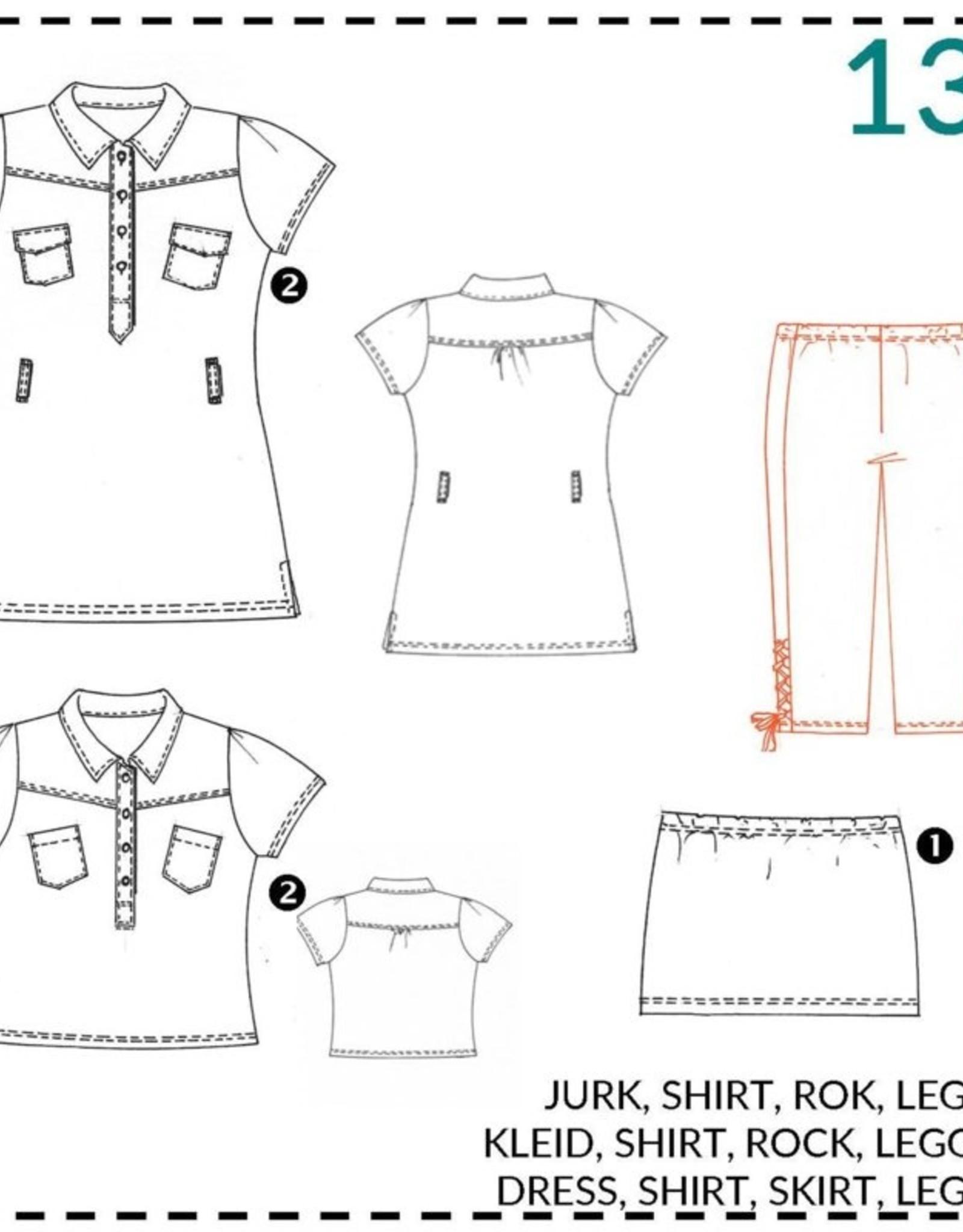 Abacadabra Jurk, shirt, rok, broek  134 - Abacadabra