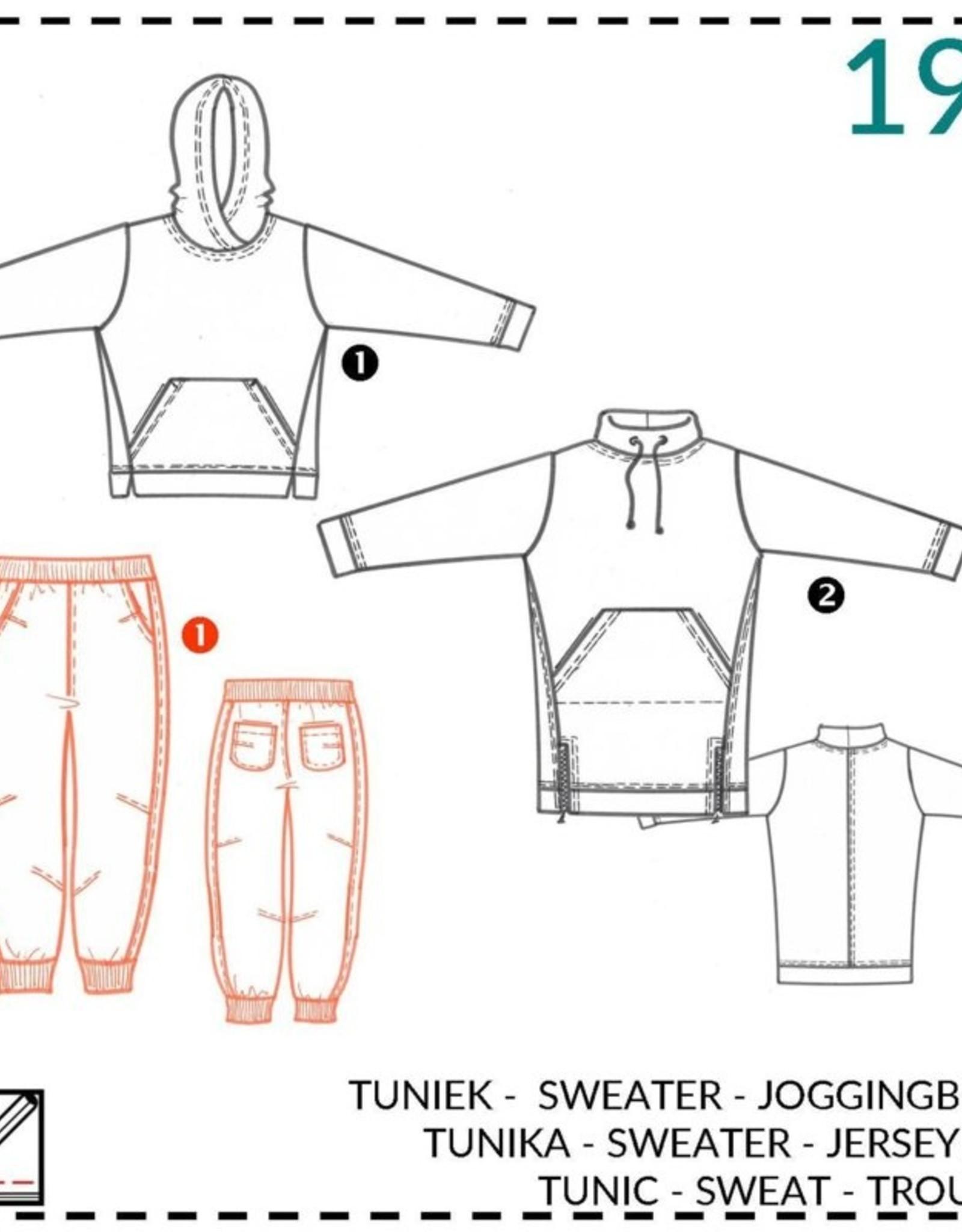 Abacadabra Tuniek, sweater, joggingbroek 190 - Abacadabra