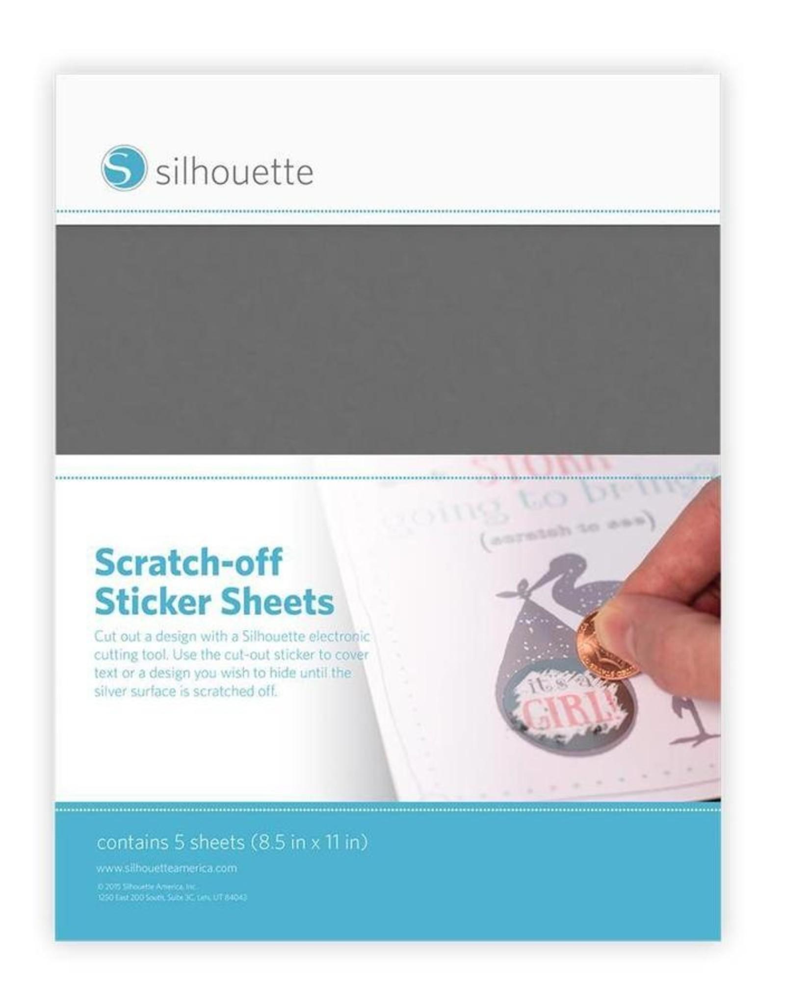 silhouette Silhouette Scratch Off Sticker Sheets Zilver