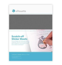 silhouette Silhouette Scratch Off Sticker Sheets Zilver