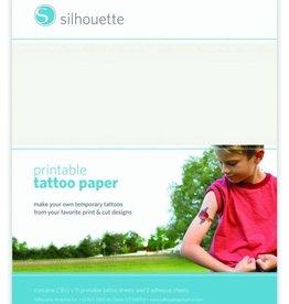 silhouette Silhouette Tattoo Paper