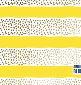 About Blue Fabrics COUPON Golden Rain - About Blue 95x150cm