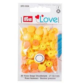 Prym Prym - love drukknopen lichtgeel/geel/oranje - 393 004