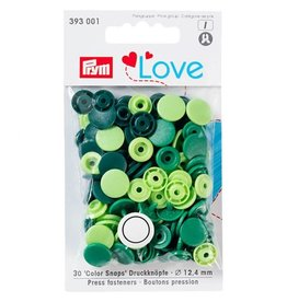Prym Prym - love drukknopen lime/bosgroen/donkergroen - 393 001