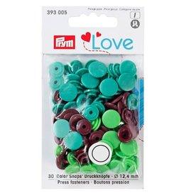 Prym Prym - drukknopen groen/bruin/zeegroen - 393 005