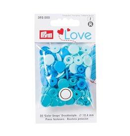 Prym Prym - drukknopen lichtblauw/groenblauw/kobalt - 393 000