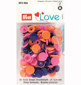 Prym Prym - love drukknopen roze/paars/orange - 393 006