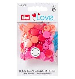 Prym Prym - love drukknopen zalm/rood/fuchsia - 393 002