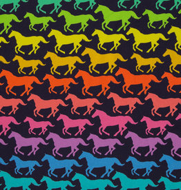 swafing COUPON Basel running horses bright colors 40x160cm