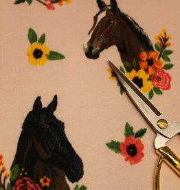 jogging lichtroze paarden