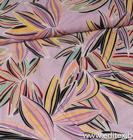 Fibre Mood COUPON Viscose Fibre Mood Elma Lila flowers 190x145cm