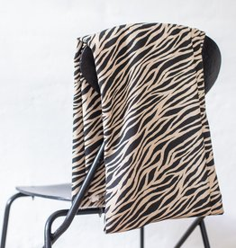 Mind the Maker COUPON Viscose plain - zebra black&sand 70x140cm