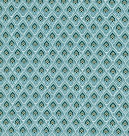 Hilco Ninona viscose print turquoise