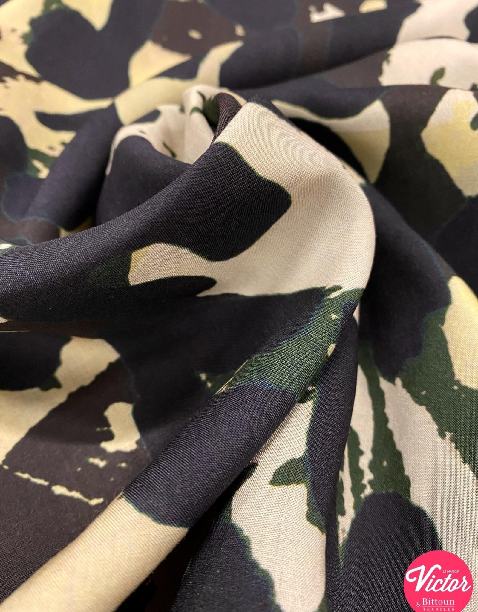 La Maison Victor COUPON Viscose LMV AIDA Jurk camouflage 150x140cm