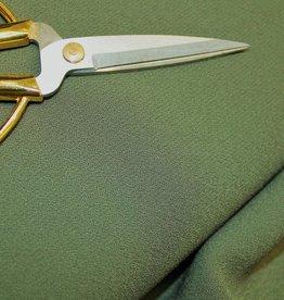 A La Ville Haute Couture COUPON Bubble crepe donker kaki 80x145cm