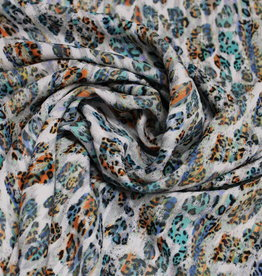A La Ville Haute Couture Crepe georgette kleurrijke panterprint