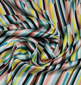 A La Ville Haute Couture COUPON Satijn zomerfris strepen (80cm x 145cm)