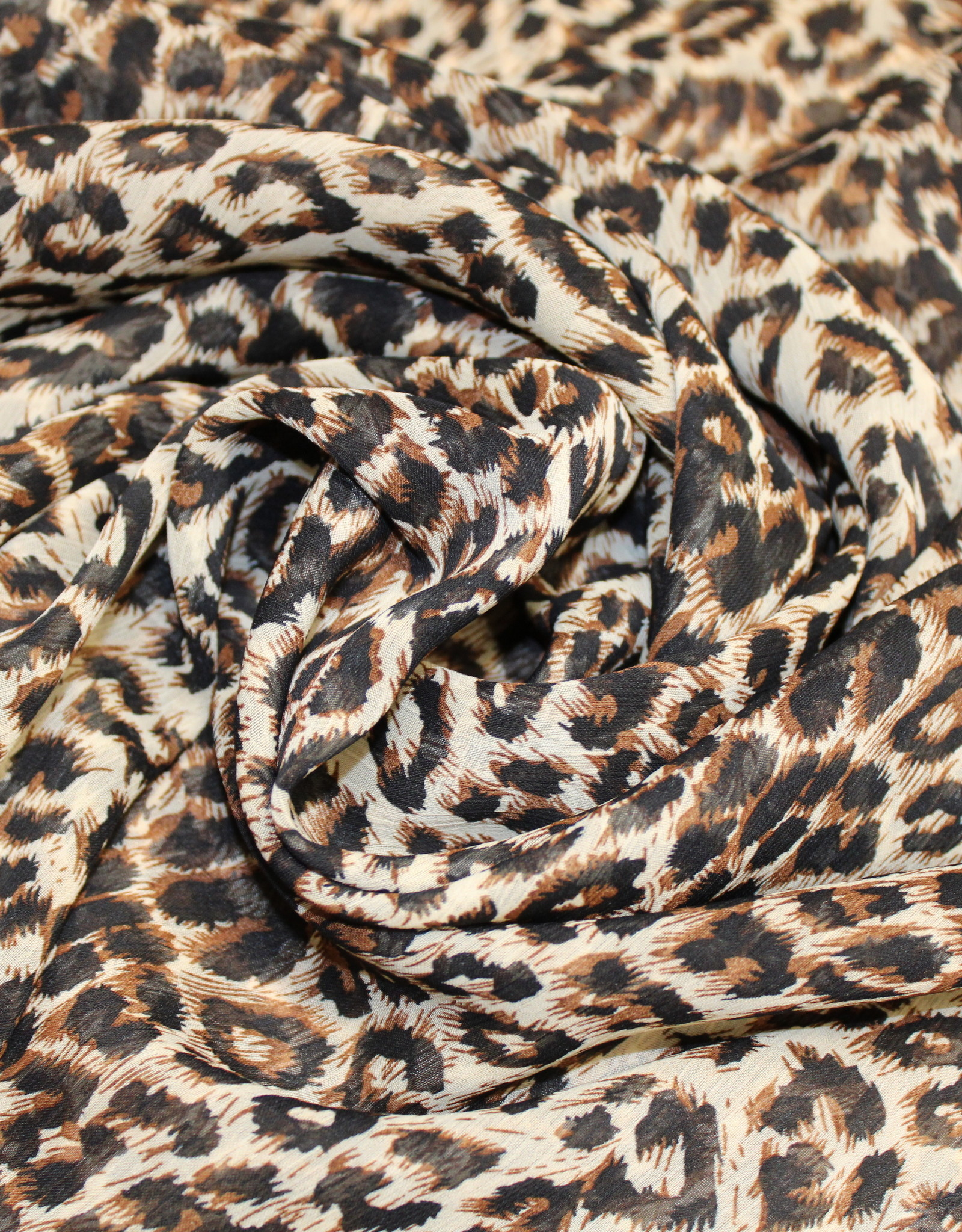 Chiffon luipaardprint bruin