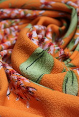 Nooteboom Bubble chiffon oranje bloemen