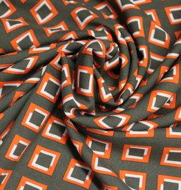 Nooteboom Viscose kaki oranje shapes