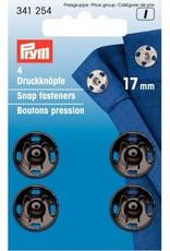 Prym Prym - aannaaidrukknoop 17mm Zwart - 341 254