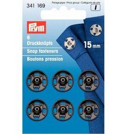Prym Prym - aannaaidrukkers Zwart 15mm - 341 169