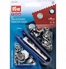 Prym Prym - Ring+Schijf 8mm zilver - 541 374