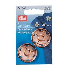Prym Prym  - aannaaidrukknoop 30mm rozegoud - 341 802