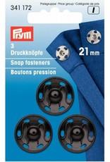 Prym Prym - aannaaidrukkers Zwart 21mm - 341 172
