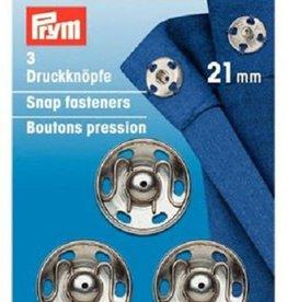 Prym Prym  - aannaaidrukkers Zilver 21mm - 341 252