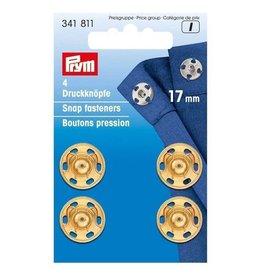 Prym Prym - aannaaidrukknoop 17mm Goud - 341 811