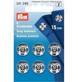 Prym Prym - aannaaidrukkers Zilver 15mm - 341 249