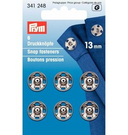Prym Prym - aannaaidrukkers Zilver 13mm  - 341 248